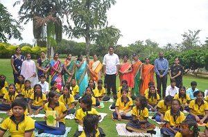 world yoga day with Mr. Maganti Gopinadh MLA